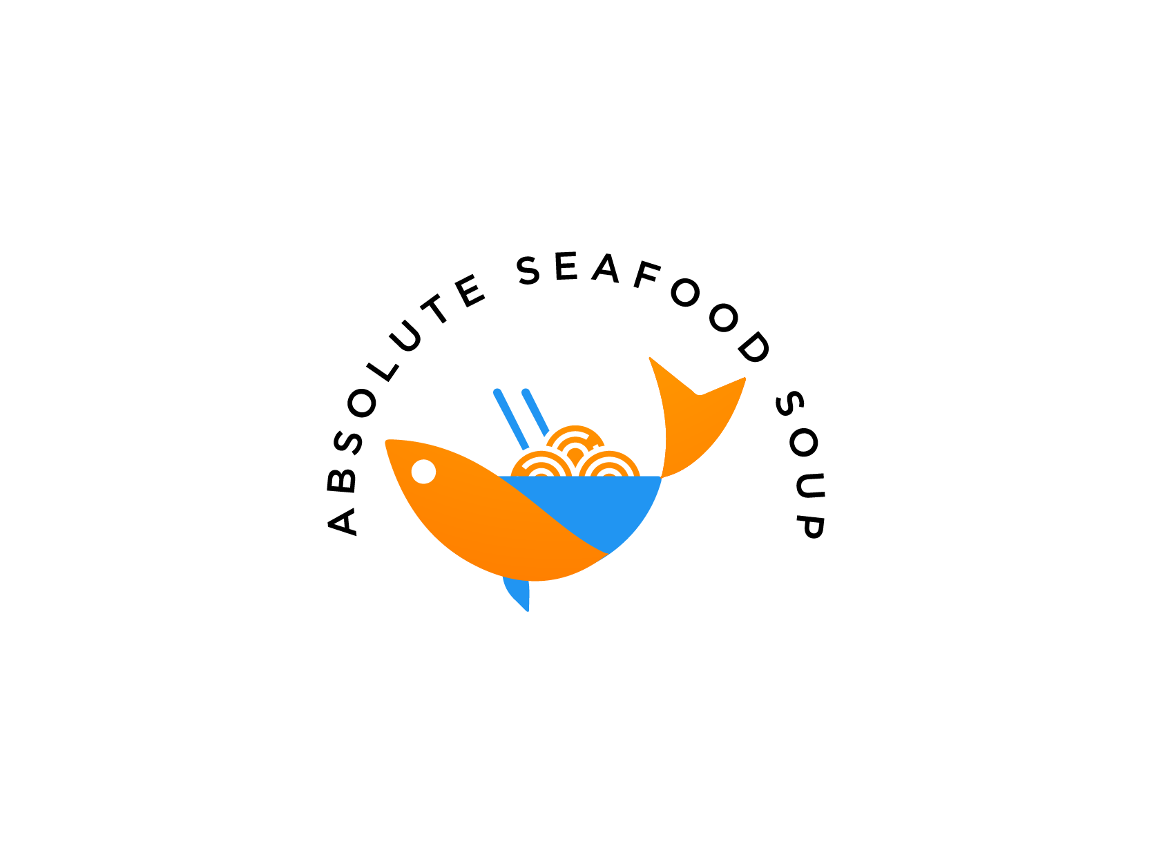 Absolute Sea Food Soup Logo Design